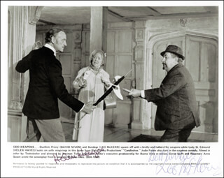 CANDLESHOE MOVIE CAST - AUTOGRAPHED SIGNED PHOTOGRAPH CO-SIGNED BY: HELEN HAYES, LEO McKERN