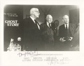 GHOST STORY MOVIE CAST - AUTOGRAPHED SIGNED PHOTOGRAPH CO-SIGNED BY: DOUGLAS FAIRBANKS JR., JOHN HOUSEMAN