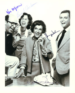 NANCY WALKER SHOW TV CAST - AUTOGRAPHED SIGNED PHOTOGRAPH CO-SIGNED BY: WILLIAM DANIELS, BEVERLY ARCHER, KEN OLFSON, NANCY WALKER