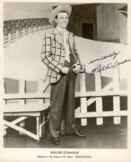 WALTER DONAHUE - AUTOGRAPHED SIGNED PHOTOGRAPH