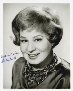 SHIRLEY BOOTH - AUTOGRAPHED SIGNED PHOTOGRAPH
