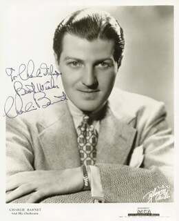 CHARLIE BARNET - AUTOGRAPHED SIGNED PHOTOGRAPH