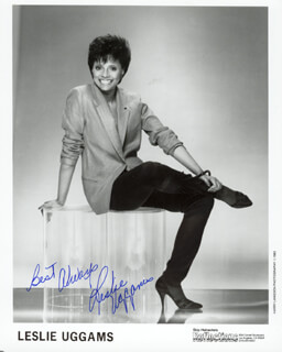 LESLIE UGGAMS - AUTOGRAPHED SIGNED PHOTOGRAPH