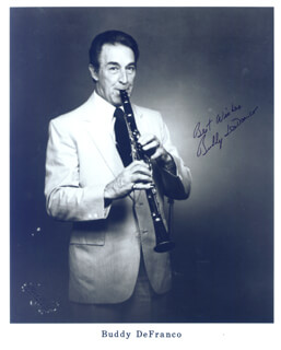 BUDDY DEFRANCO - AUTOGRAPHED SIGNED PHOTOGRAPH