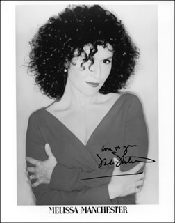 MELISSA MANCHESTER - AUTOGRAPHED SIGNED PHOTOGRAPH