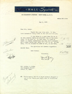 WALT KELLY - TYPED LETTER SIGNED 05/09/1956