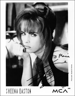 SHEENA EASTON - AUTOGRAPHED SIGNED PHOTOGRAPH
