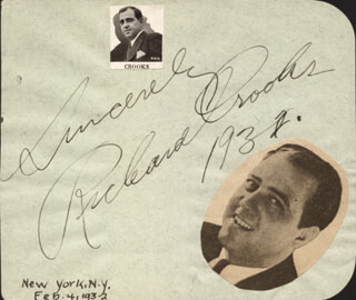 RICHARD CROOKS - AUTOGRAPH SENTIMENT SIGNED 1932