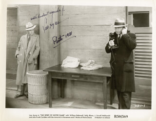 LEW AYRES - AUTOGRAPHED SIGNED PHOTOGRAPH