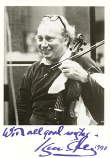 ISAAC STERN - AUTOGRAPHED SIGNED PHOTOGRAPH 1990
