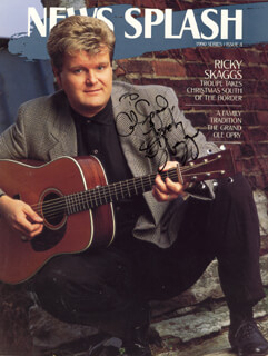 Autographs: RICKY SKAGGS - INSCRIBED MAGAZINE SIGNED