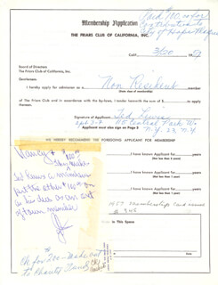 TED LEWIS - APPLICATION SIGNED 03/20/1957