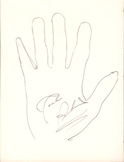 CARL LEE PERKINS - HAND/FOOT PRINT OR SKETCH SIGNED