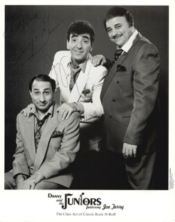 DANNY & THE JUNIORS (JOE TERRANOVA) - AUTOGRAPHED SIGNED PHOTOGRAPH