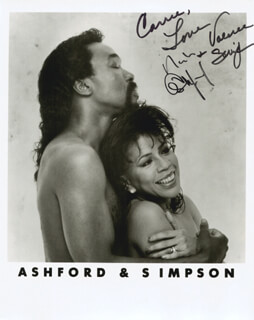 Autographs: ASHFORD & SIMPSON - INSCRIBED PHOTOGRAPH SIGNED CO-SIGNED BY: ASHFORD & SIMPSON (NICKOLAS ASHFORD), ASHFORD & SIMPSON (VALERIE SIMPSON)