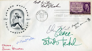 JOHN W. TOLAND - FIRST DAY COVER SIGNED CO-SIGNED BY: EDWARD O. WILSON, ROBERT M. COLES, NEIL SHEEHAN, STUDS TERKEL, SUSAN SHEEHAN