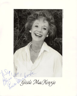 GISELE MacKENZIE - AUTOGRAPHED INSCRIBED PHOTOGRAPH