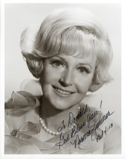 NORMA ZIMMER - AUTOGRAPHED SIGNED PHOTOGRAPH