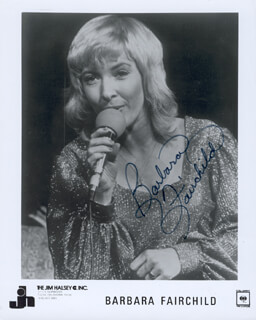 BARBARA FAIRCHILD - AUTOGRAPHED SIGNED PHOTOGRAPH