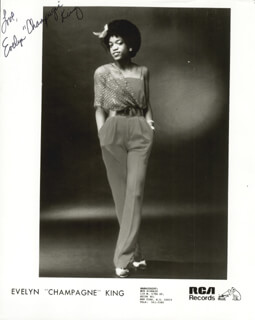 EVELYN CHAMPAGNE KING - AUTOGRAPHED SIGNED PHOTOGRAPH