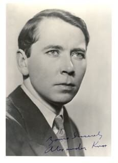 ALEXANDER KNOX - AUTOGRAPHED SIGNED PHOTOGRAPH