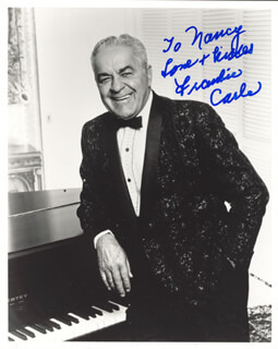FRANKIE CARLE - AUTOGRAPHED INSCRIBED PHOTOGRAPH