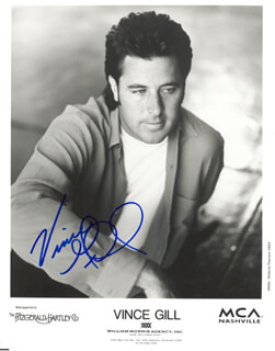 VINCE GILL - PRINTED PHOTOGRAPH SIGNED IN INK
