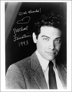 MICHAEL FEINSTEIN - AUTOGRAPHED SIGNED PHOTOGRAPH 1993