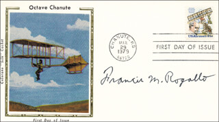 FRANCIS M. ROGALLO - FIRST DAY COVER SIGNED