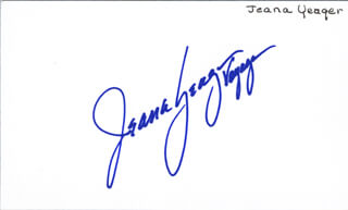 JEANA YEAGER - AUTOGRAPH