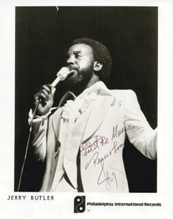 JERRY ICEMAN BUTLER - AUTOGRAPHED SIGNED PHOTOGRAPH