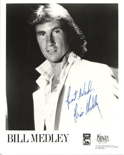 THE RIGHTEOUS BROTHERS (BILL MEDLEY) - AUTOGRAPHED SIGNED PHOTOGRAPH