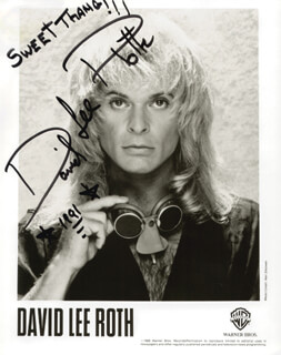DAVID LEE ROTH - AUTOGRAPHED SIGNED PHOTOGRAPH 1991