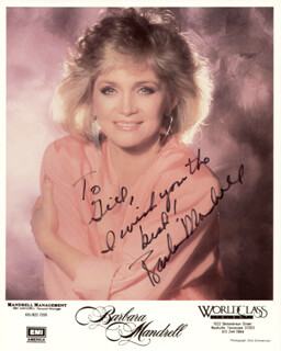 BARBARA MANDRELL - AUTOGRAPHED INSCRIBED PHOTOGRAPH