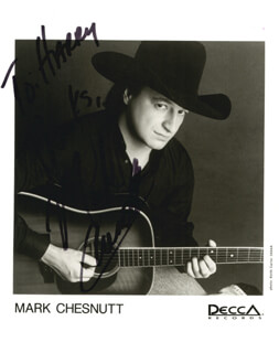MARK CHESNUTT - AUTOGRAPHED SIGNED PHOTOGRAPH