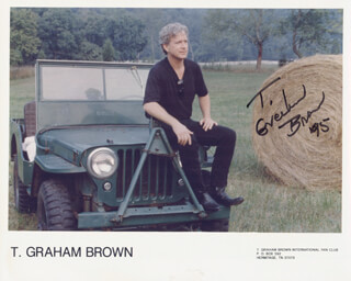 Autographs: T. GRAHAM BROWN - PRINTED PHOTOGRAPH SIGNED IN INK 1995