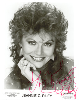JEANNIE C. RILEY - AUTOGRAPHED SIGNED PHOTOGRAPH
