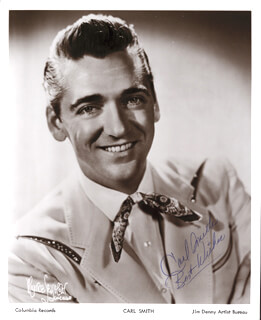 CARL SMITH - AUTOGRAPHED SIGNED PHOTOGRAPH