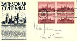 CHARLES H. TOWNES - FIRST DAY COVER SIGNED CO-SIGNED BY: JOHN M.J. MADEY