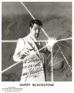 HARRY BLACKSTONE JR. - AUTOGRAPHED INSCRIBED PHOTOGRAPH