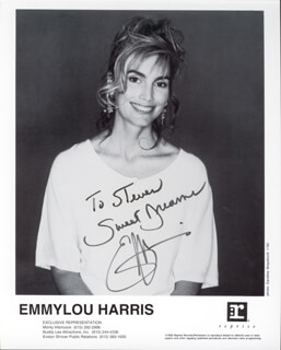 EMMY LOU HARRIS - AUTOGRAPHED INSCRIBED PHOTOGRAPH