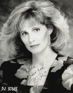 P.J. SOLES - AUTOGRAPHED INSCRIBED PHOTOGRAPH