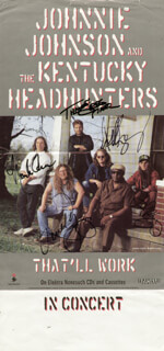 KENTUCKY HEADHUNTERS - ANNOTATED POSTER SIGNED CO-SIGNED BY: THE KENTUCKY HEADHUNTERS (GREG MARTIN), KENTUCKY HEADHUNTERS (FRED YOUNG), KENTUCKY HEADHUNTERS (DOUG PHELPS), KENTUCKY HEADHUNTERS (RICKY PHELPS), KENTUCKY HEADHUNTERS (RICHARD YOUNG)
