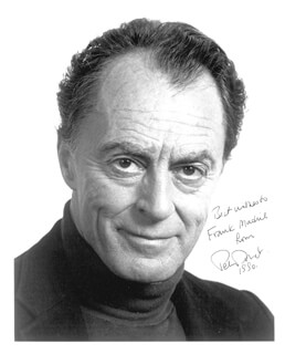 PETER DONAT - AUTOGRAPHED SIGNED PHOTOGRAPH 1990