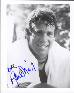 RYAN O'NEAL - AUTOGRAPHED SIGNED PHOTOGRAPH