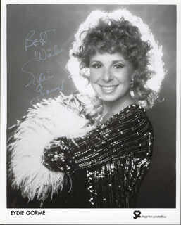 EYDIE GORME - AUTOGRAPHED SIGNED PHOTOGRAPH