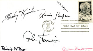 RICHARD WILBUR - FIRST DAY COVER SIGNED CO-SIGNED BY: GALWAY KINNELL, W.D. SNODGRASS, STANLEY KUNITZ, LOUIS SIMPSON, ANTHONY E. HECHT