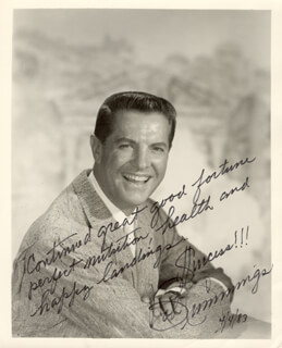 ROBERT BOB CUMMINGS - AUTOGRAPHED SIGNED PHOTOGRAPH