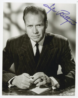 LYLE BETTGER - AUTOGRAPHED SIGNED PHOTOGRAPH