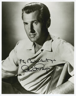 STEWART GRANGER - AUTOGRAPHED SIGNED PHOTOGRAPH